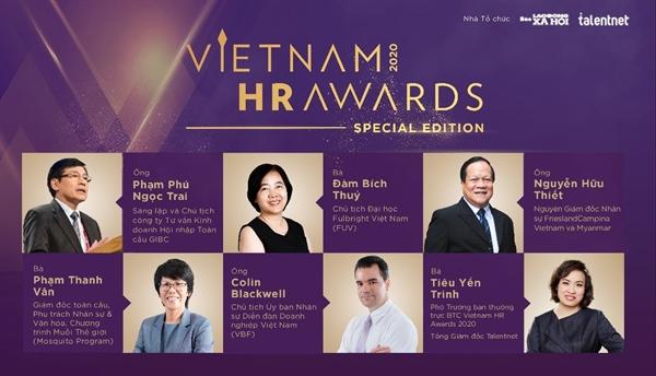 Hội đồng thẩm định Vietnam HR Awards 2020 gồm những chuyên gia uy tín, nhiều kinh nghiệm