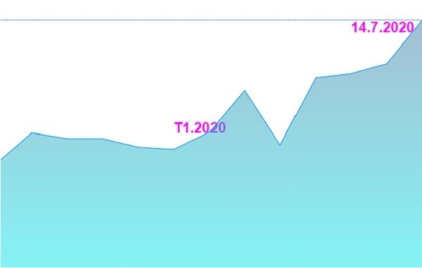 Giá cổ phiếu HND tăng mạnh từ đầu năm 2020 đến nay. Ảnh: FireAnt.
