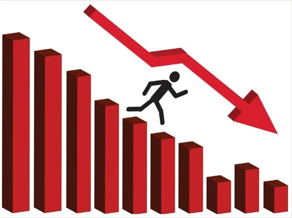 Nhìn chung thị trường chứng khoán đang lao dốc. Nguồn ảnh: Vector Stock.