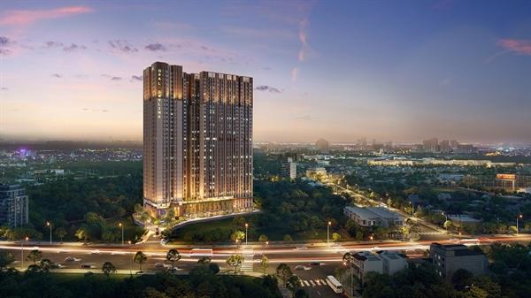 Dự án Opal Skyline do Tập đoàn Đất Xanh phát triển tại trung tâm thành phố Thuận An