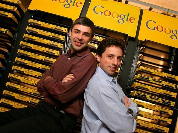 Larry Page (trái) và Sergey Brin