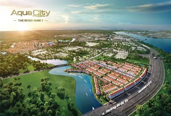 Sở hữu vị trí cửa ngõ đô thị Aqua City quy mô gần 1.000ha tại phía Đông, River Park 1 được kỳ vọng là phân khu có khả năng sớm hình thành cộng đồng dân cư sầm uất.