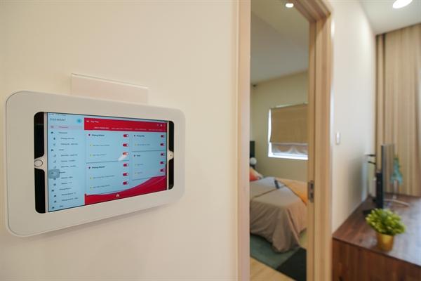 Công nghệ nhà thông minh được tích hợp trong các căn hộ tại New Galaxy.