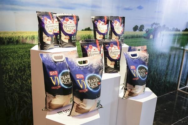 Gạo VJ Pearl Rice của Vinaseed vừa được xuất khẩu ở mức giá hơn 1.000 USD mỗi tấn sang Châu Âu. Nguồn ảnh: PAN Group.