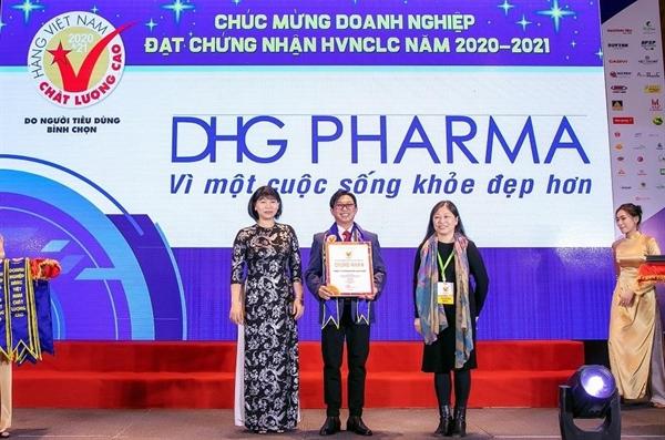 DHG Pharma 24 năm nhận được giải thưởng Hàng Việt Nam Chất lượng cao.