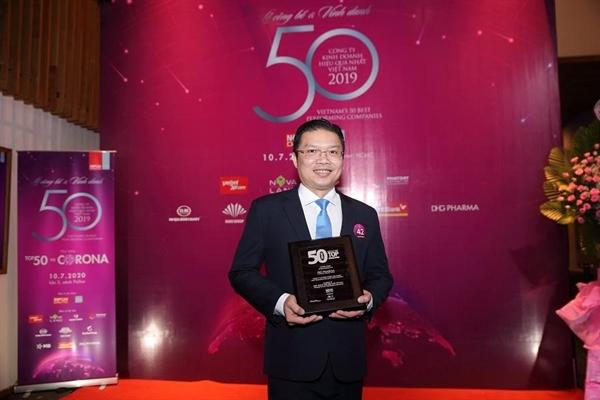 """DHG Pharma 9 năm liền được vinh danh """"Top 50 công ty kinh doanh hiệu quả nhất""""."""