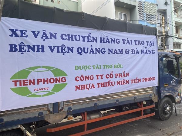 Những chuyến xe vận chuyển hàng hóa hỗ trợ Quảng Nam và Đà Nẵng