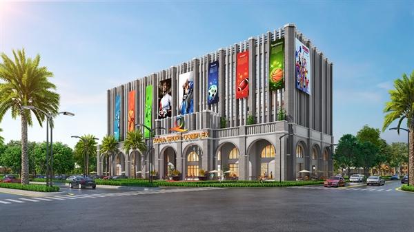 Aqua Sport Complex là trung tâm thể thao đa năng có tổng diện tích lên đến hơn 8.000 m2 với quy mô 5 tầng.