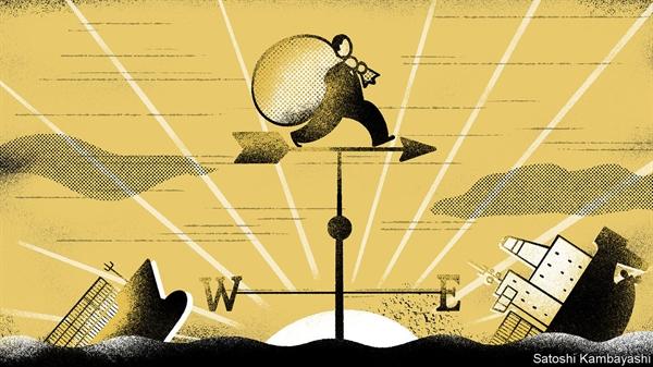 Khẩu vị của Phố Wall đang dịch chuyển dần về phía đông. Nguồn ảnh: The Economist.