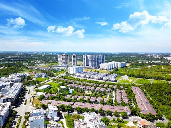 Khu đô thị Mizuki Park (TP. HCM) đã hình thành. Nguồn ảnh: Thanh Huyền.