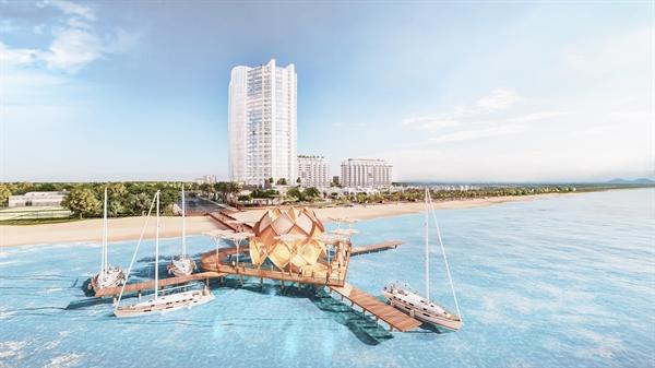 Aria Vũng Tàu nổi bật với hơn 400 m mặt tiền bãi biển riêng.