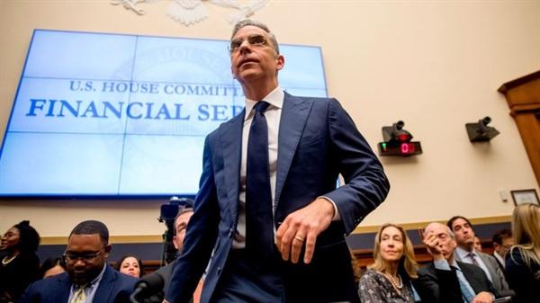 Ông David Marcus - CEO mảng dịch vụ ví điện tử Calibra của Facebook tại một phiên điều trần của Ủy ban Dịch vụ Tài chính ở Quốc hội Mỹ. Nguồn ảnh: CNN.
