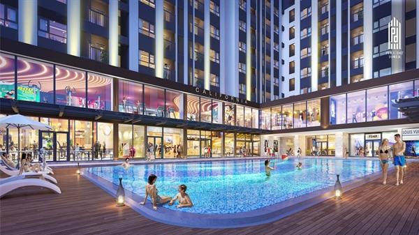 Phuc Dat Tower mang đến trải nghiệm sống với hồ bơi đẳng cấp.