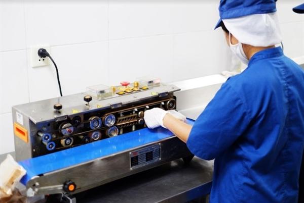 Khâu đóng gói phải được thực hiện ở nhiệt độ 50 độ C.