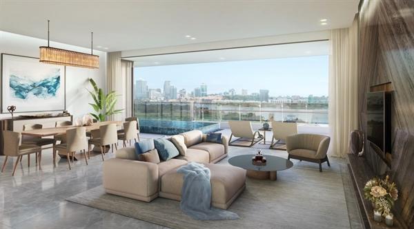 Kiến trúc mở nối liền phòng khách, phòng ăn và nhà bếp mở với nhau tạo ra một không gian toàn bích.