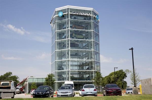 Một máy bán hàng tự động Carvana ở Texas, Mỹ. Nguồn ảnh: Bloomberg.