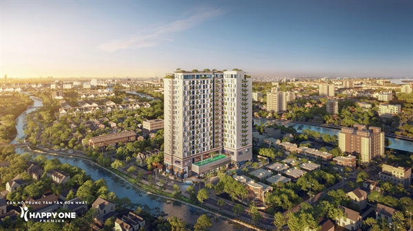 Hình phối cảnh toàn dự án căn hộ thông minh HAPPY ONE – Premier.
