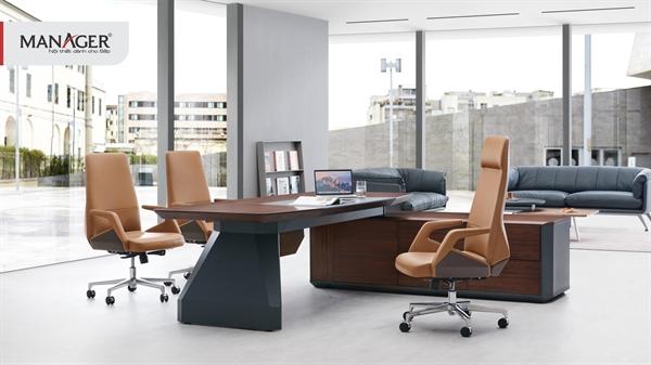 Một văn phòng dành cho sếp đầy cảm hứng với nội thất của D'FURNI.