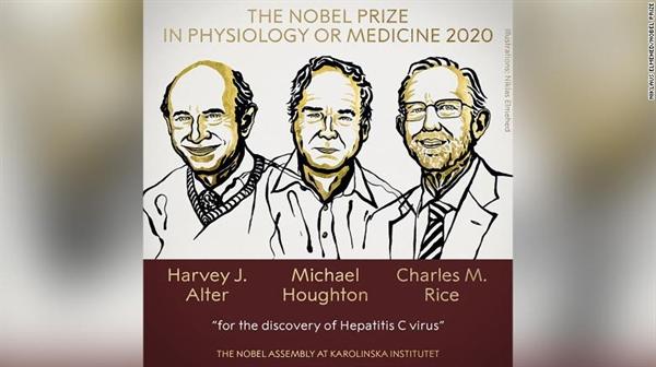 Giải Nobel Y học năm 2020 đã được trao tại Viện Karolinska, Thụy Điển vào ngày 5.10. Nguồn ảnh: CNN.
