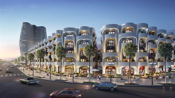 Khu đô thị biển Kỳ Co Gateway thu hút khách hàng với thiết kế đương đại.