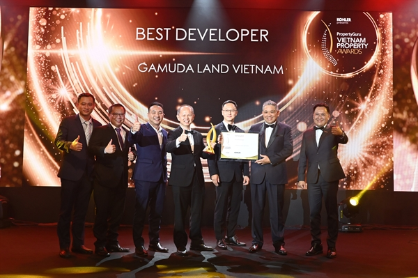 """Gamuda Land Việt Nam là """"Chủ đầu tư xuất sắc nhất"""" 2020 do Vietnam Property Awards bình chọn."""