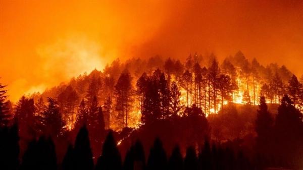 Thời tiết khô, gió gây ra nguy cơ cháy rừng cực độ ở Bắc California, nơi những trận hỏa hoạn lớn đã khiến hàng trăm ngôi nhà thiệt hại và hàng chục người thiệt mạng hoặc bị thương. Nguồn ảnh: AP.