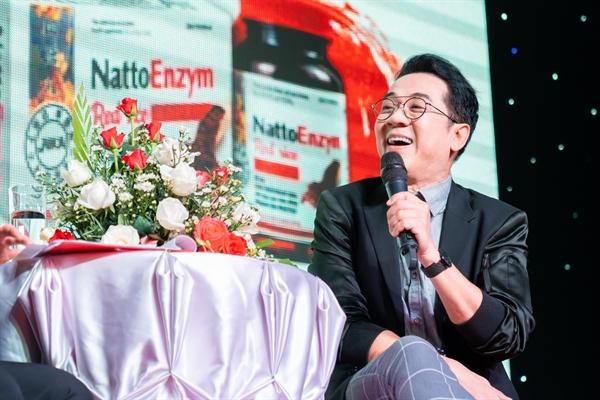 NSƯT Thành Lộc tham gia sự kiện ra mắt sản phẩm và giao lưu, chia sẻ bí quyết giữ gìn sức khỏe của mình.