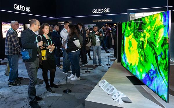 Thị phần TV toàn cầu của Samsung Elec lần đầu tiên đứng đầu 30% vào năm 2019. Ảnh: Pulse.