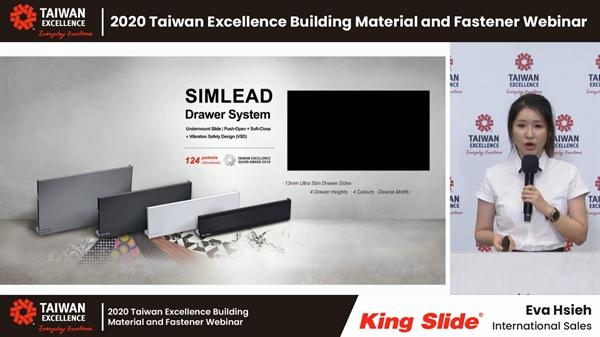 Cô Eva Hsieh, Đại diện Bán hàng Quốc tế Công ty King Slide.
