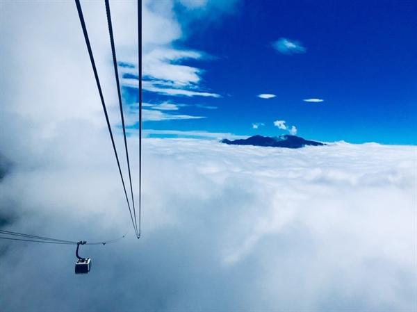 View sân mây từ cáp treo Fansipan