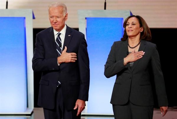 Ông Biden và bà Harris. Ảnh: Reuters.