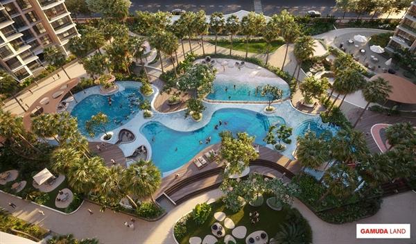 """Tựa như một """"resort biển"""", Diamond Centery chăm chút cho cư dân một không gian sống đẳng cấp và đầy tinh hoa."""