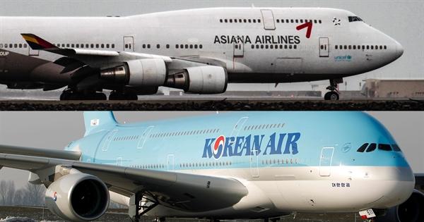 Hai hãng hàng không hàng đầu của Hàn Quốc đã gặp khó khăn ngay cả trước khi đại dịch COVID-19 tàn phá ngành. Ảnh: Reuters.
