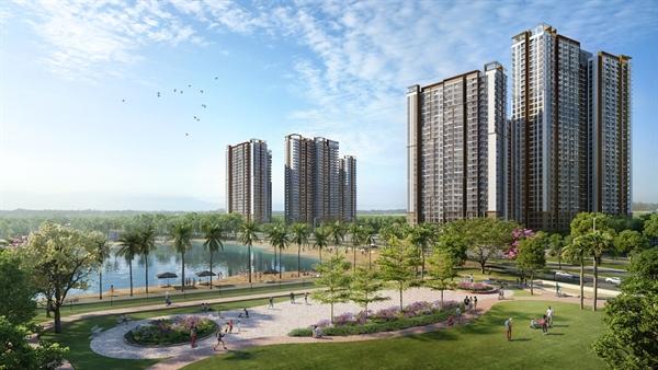 Masteri Waterfront sở hữu tầm nhìn triệu đô hướng biển hồ nước mặn 6,1 ha và hồ trung tâm 24,5 ha.