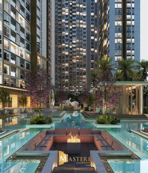 Thiết kế cảnh quan của Masteri Waterfront được phát triển bởi Belt Collins