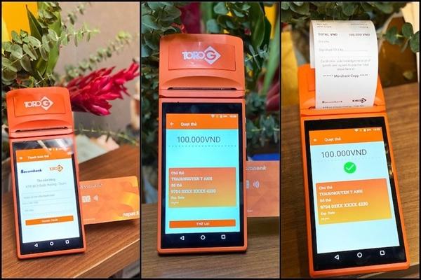 ToroG smart POS tích hợp dịch vụ thanh toán thẻ và in hoá đơn thuận tiện.