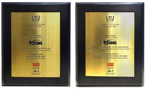 Các giải thưởng mà Bcons vinh dự đạt được.