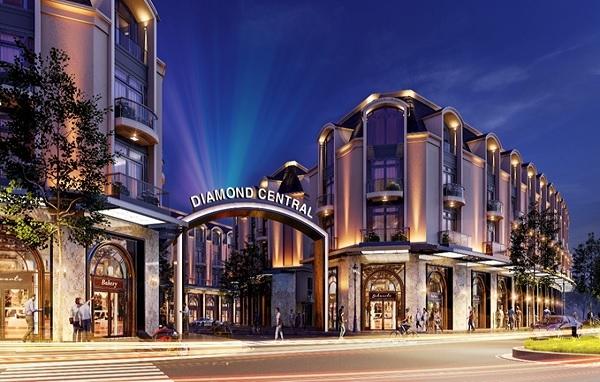 """Dự án Diamond Central của Gotec Land xuất sắc đạt hạng mục giải thưởng """"Dự án có thiết kế ấn tượng nhất năm 2020""""."""