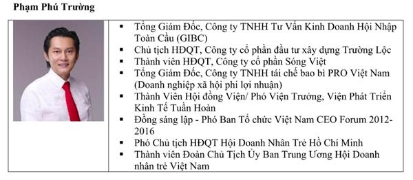 Tiểu sử ông Phạm Phú Cường