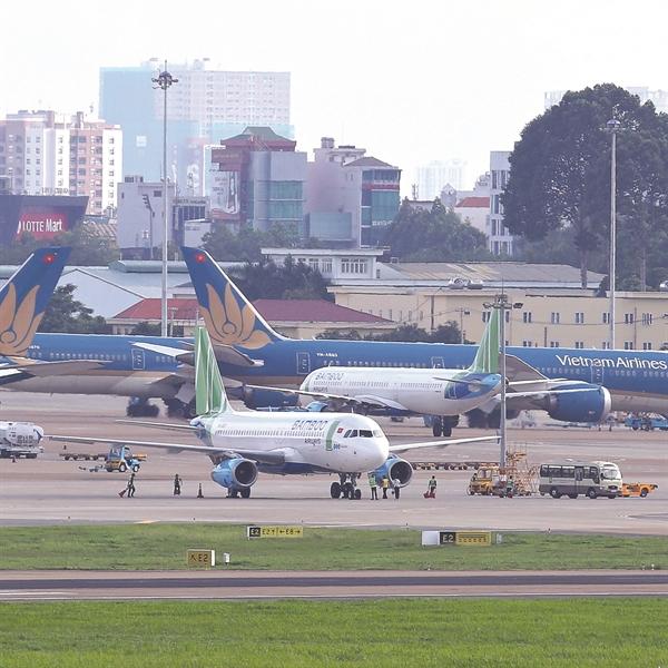 Máy bay của hãng hàng không Bamboo Airway. Ảnh: Quý Hòa.