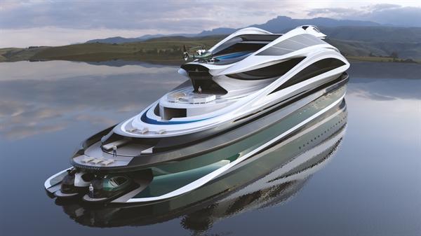 Du thuyền Avanguardia hình thiên nga. Ảnh: Lazzarini Design Studio.