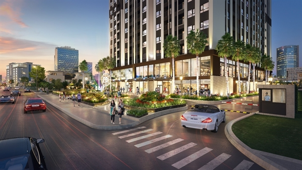 Trung tâm thương mại sầm uất và hoạt động 24/24 của Phuc Dat Tower thu hút giới đầu tư.