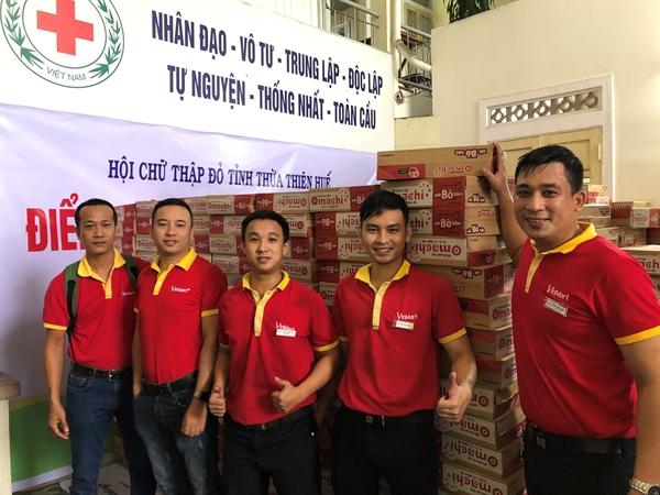 Tập thể cán bộ nhân viên Masan chung tay cùng Tập đoàn đóng góp hỗ trợ cho đồng bào miền Trung ruột thịt