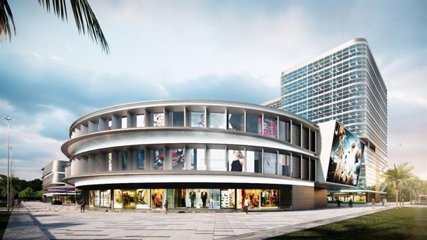 Phối cảnh trung tâm thương mại Lucky Mall sắp được khởi công xây dựng.
