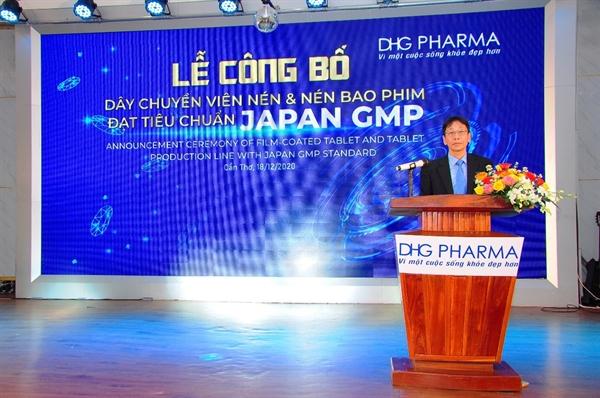 Ông Masashi Nakaura, Tổng Giám đốc Công ty Cổ phần Dược Hậu Giang phát biểu tại buổi lễ.