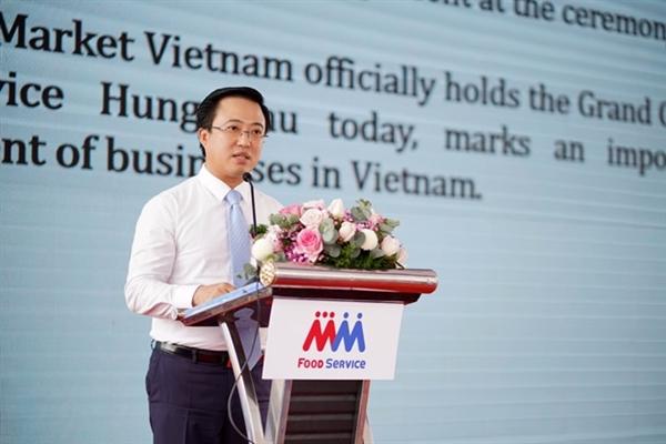 Ông Lê Huỳnh Minh Tú, Phó Giám đốc Sở Công thương TP. Hồ Chí Minh phát biểu tại sự kiện.