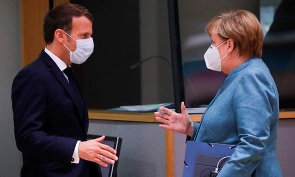 Các nhà lãnh đạo châu Âu hoan nghênh thỏa thuận Brexit là kết quả ít tồi tệ nhất. Thủ tướng Đức và Tổng thống Pháp đều hoan nghênh thỏa thuận này. Ảnh: AFP.