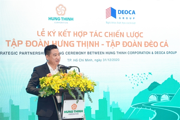 Ông Nguyễn Đình Trung phát biểu tại buổi lễ.