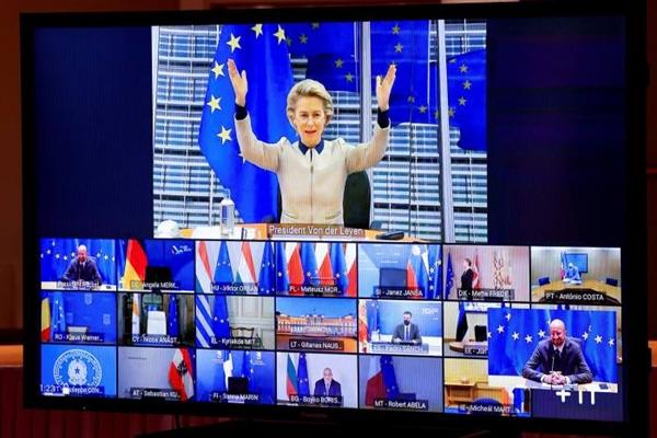 Cuộc gọi điện video trở nên vô cùng cần thiết, ngay cả đối với những người tại hội nghị thượng đỉnh EU. Ảnh: AFP.