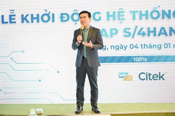 Ông Nguyễn Công Tẩn – TGĐ Citek phát biểu tại buổi lễ vận hành.